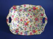 Pretty Grimwades Royal Winton 'Old Cottage Chintz' Art Deco Dish c1945